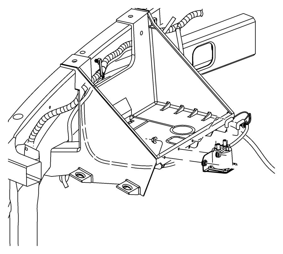 Dodge Ram 2500 Wiring. Air intake heater. Emissions