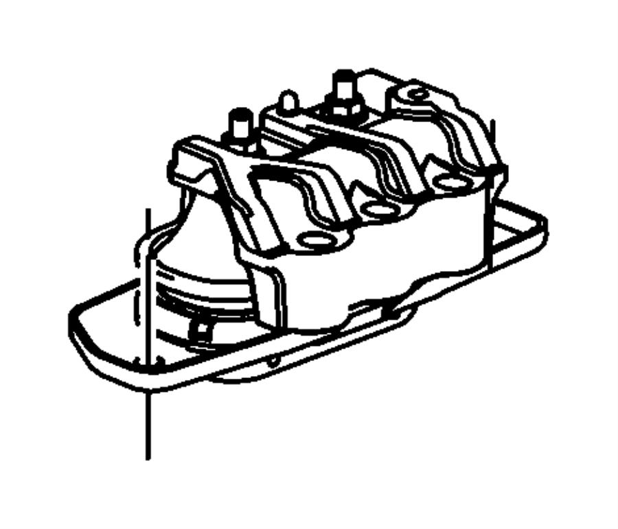 Dodge Avenger Engine mount, isolator. Right. Right side