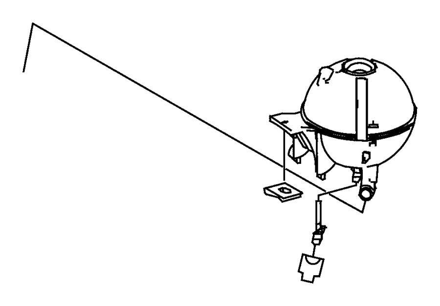 Dodge SPRINTER Sensor. Coolant level. Hoses, tank