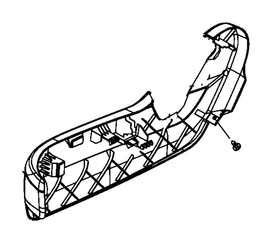 Dodge Grand Caravan Shield. Passenger outboard. Trim