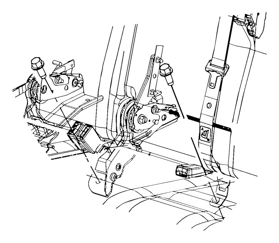 Dodge NITRO Seat belt. Rear center shoulder, rr cntr