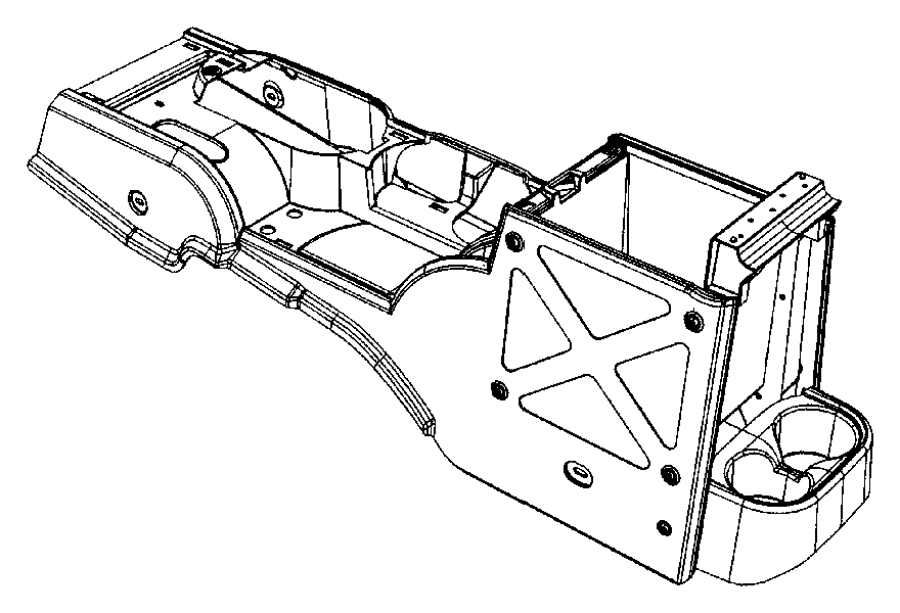 Jeep Wrangler Bin. Floor console. Automatic transmission