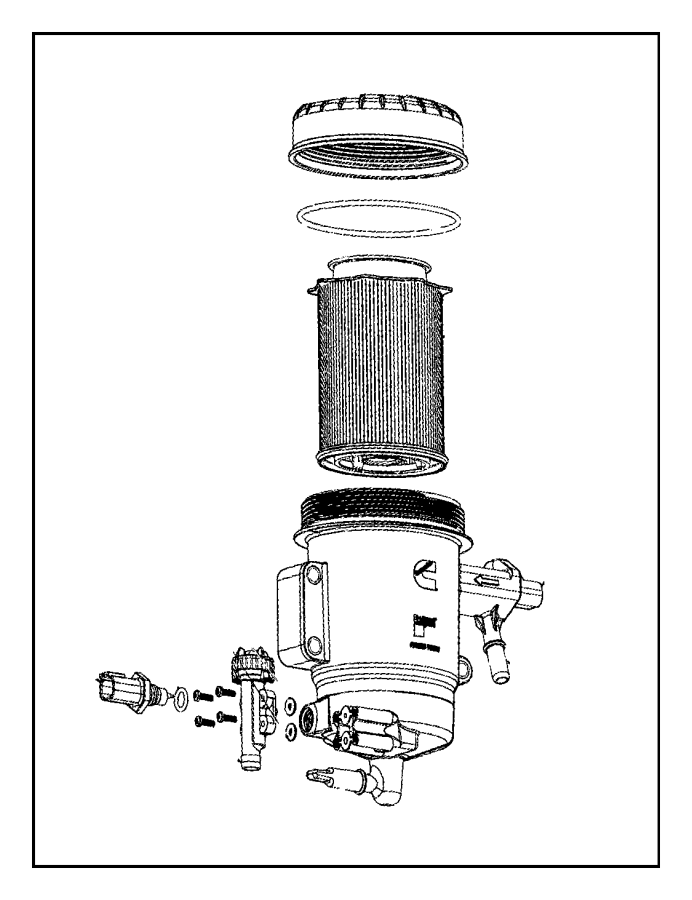 Dodge Ram 2500 Housing. Fuel filter. Emissions, state