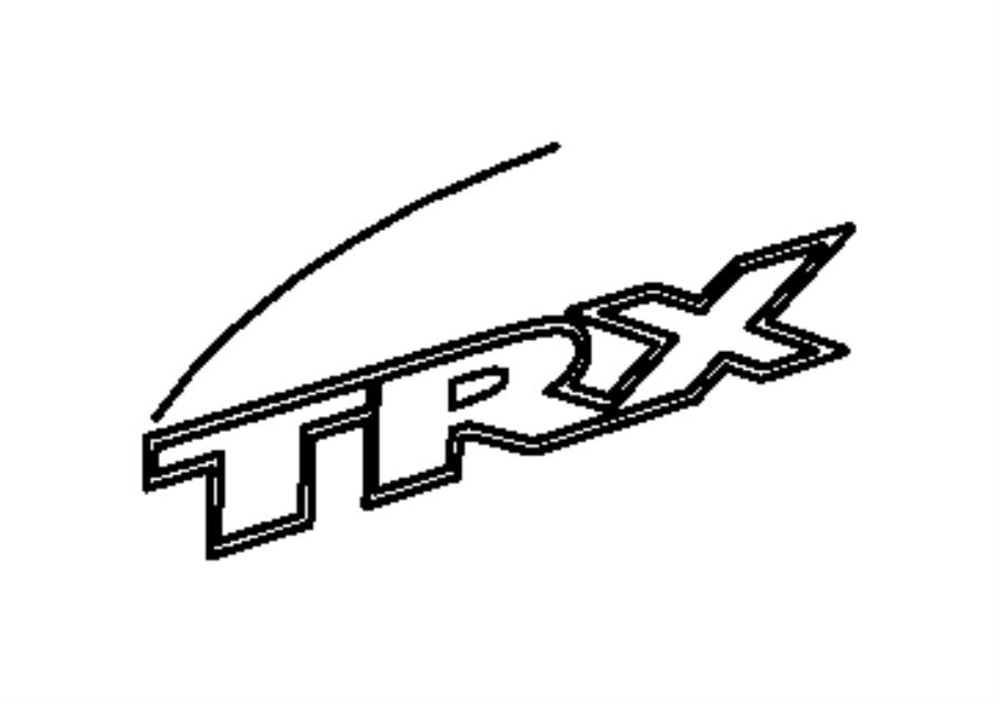 Dodge Ram 1500 Decal. Trx. [trx badge], [trx badge
