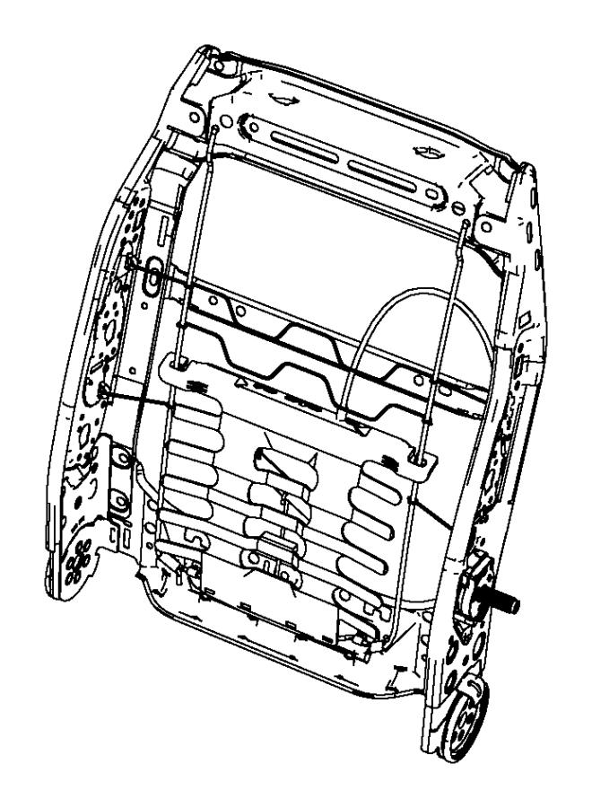 Chrysler Sebring Frame. Front seat back. Left. Trim