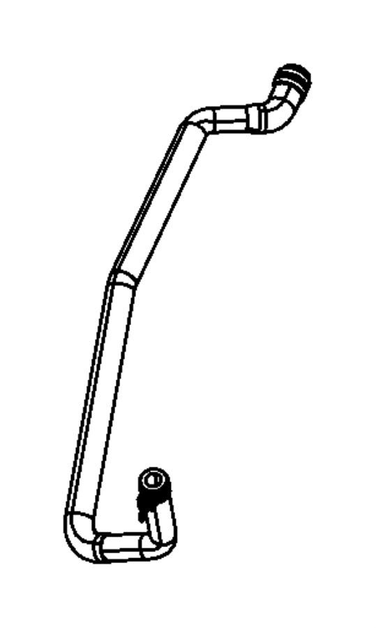 Jeep Patriot Hose. Radiator outlet. [[power train parts