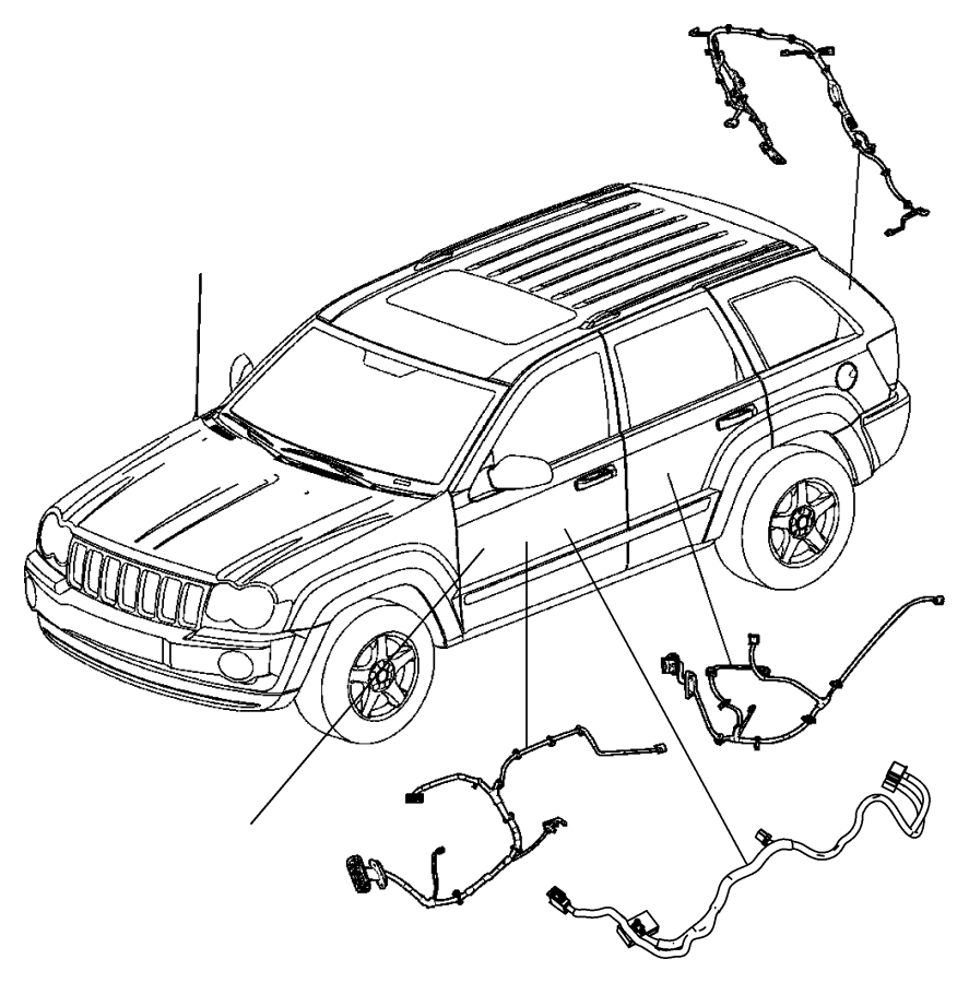 Dodge Durango Wiring. Rear door. Right. [remote proximity