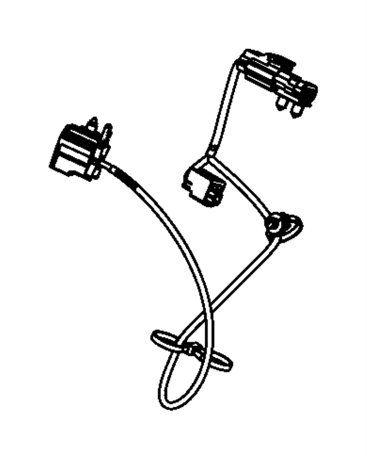 Jeep Wrangler Wiring. Seat belt jumper. Trim: [cloth seats
