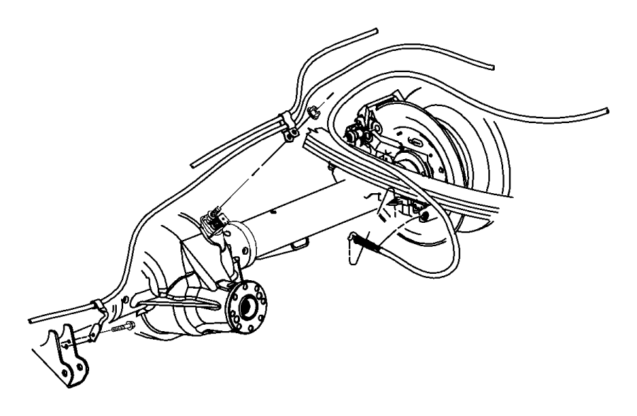 Ram 5500 Cable. Parking brake. Left, left rear. From 06-20