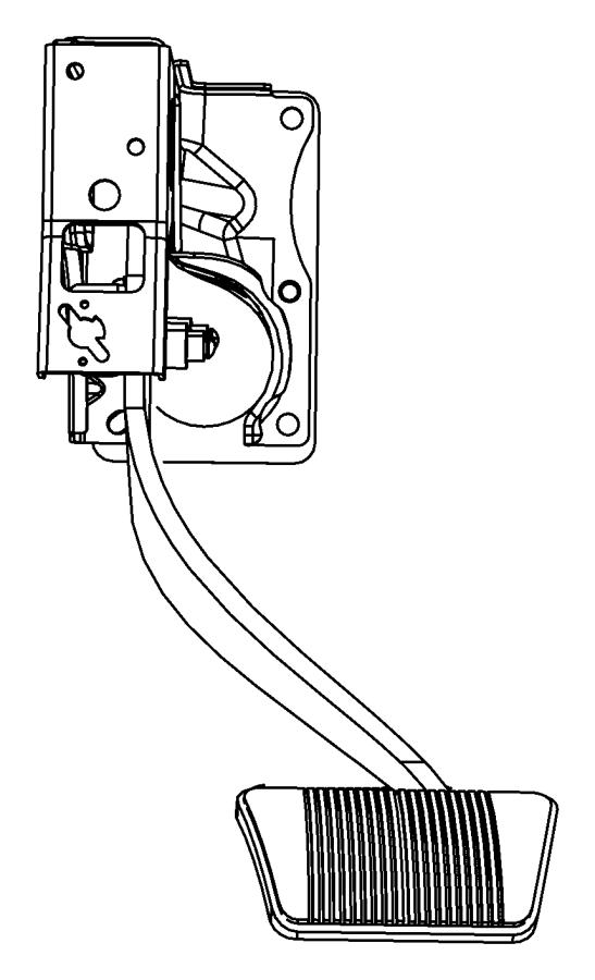 Dodge Journey Pedal. Brake. Right hand drive. [6-spd c635