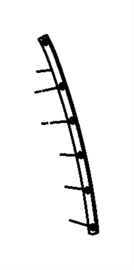 Chrysler 200 Weatherstrip. B pillar cutline. Aperture
