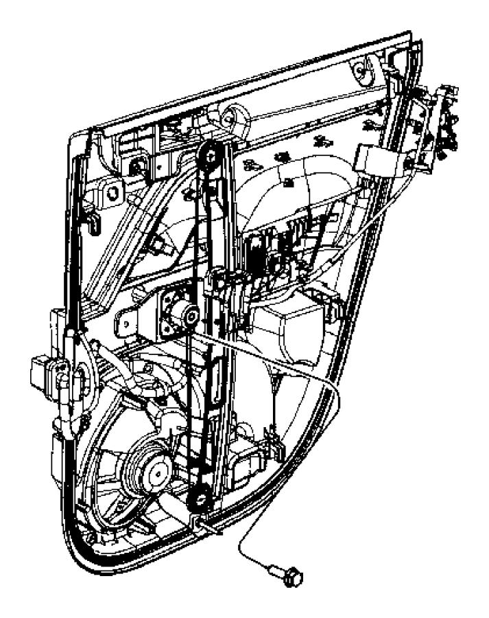 Jeep Compass Regulator. Rear door window. Left. Manual