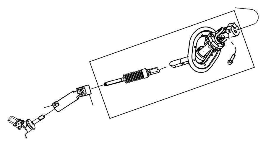 Ram 1500 Shaft. Steering column intermediate. Lower