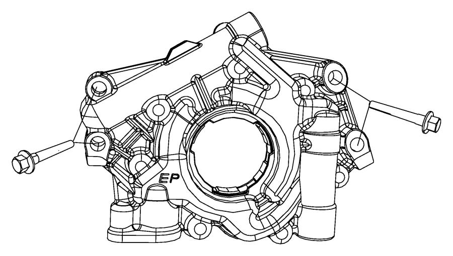 Dodge Durango Pump. Engine oil. Mds, oiling, hemi