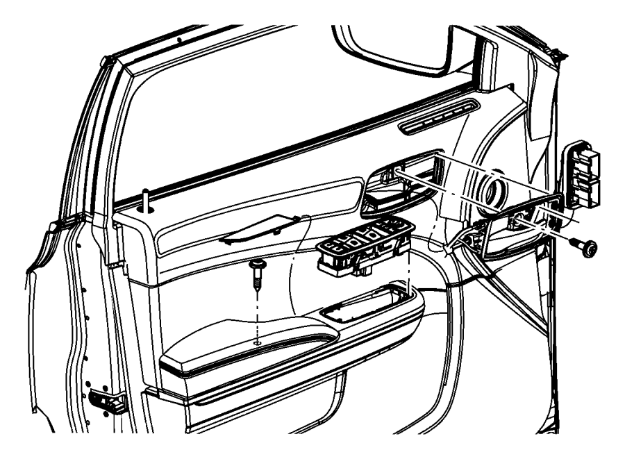 Chrysler 300 Panel. Front door trim. Left. Trim: [all trim