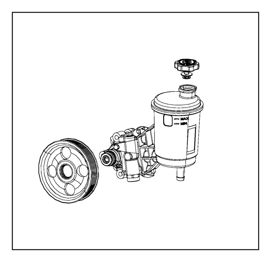 Ram 5500 Cap. Power steering reservoir. Rack, pump, pinion