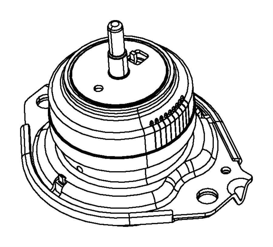 Jeep Grand Cherokee Isolator. Engine mount. Left side