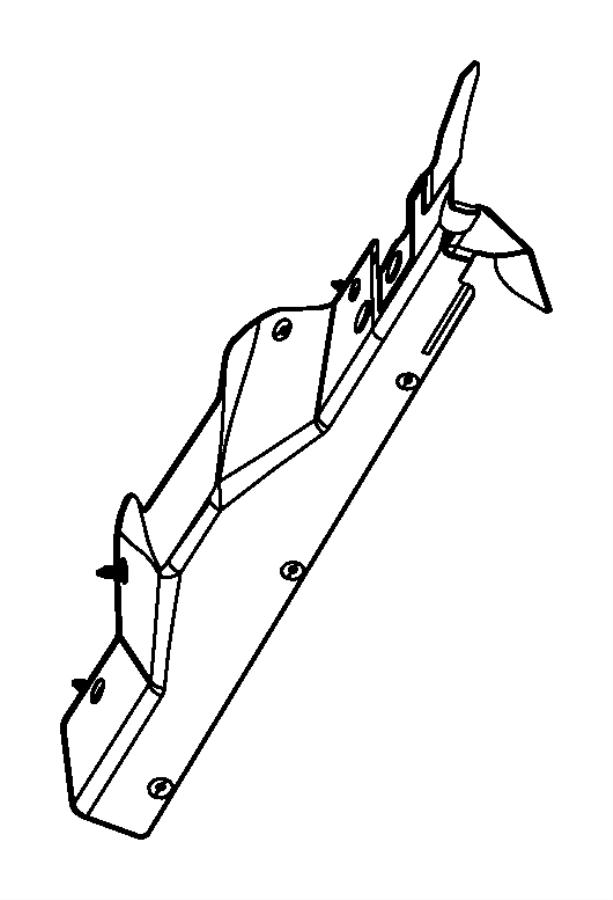 Jeep Patriot Seal. Radiator upper. [remote start system