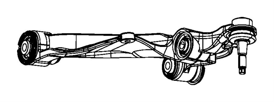 Dodge Ram 1500 Bushing. Control arm. Rear. Front