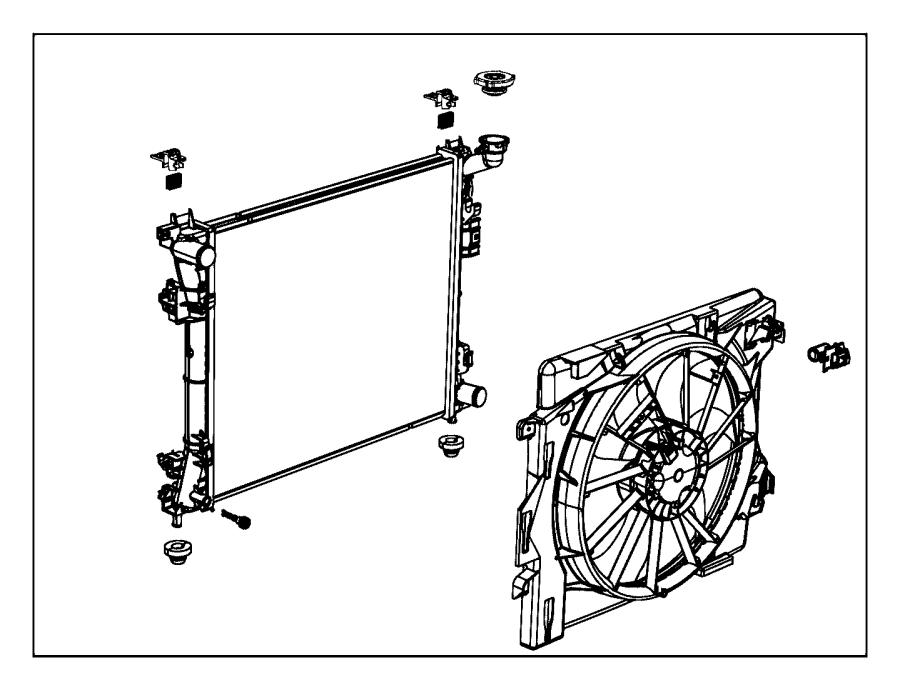 Dodge Grand Caravan Isolator. Radiator. Upper. [heavy duty