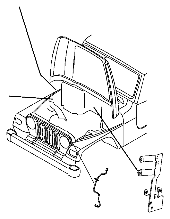 Jeep Wrangler Wiring. Jumper. Side marker lamp. Side