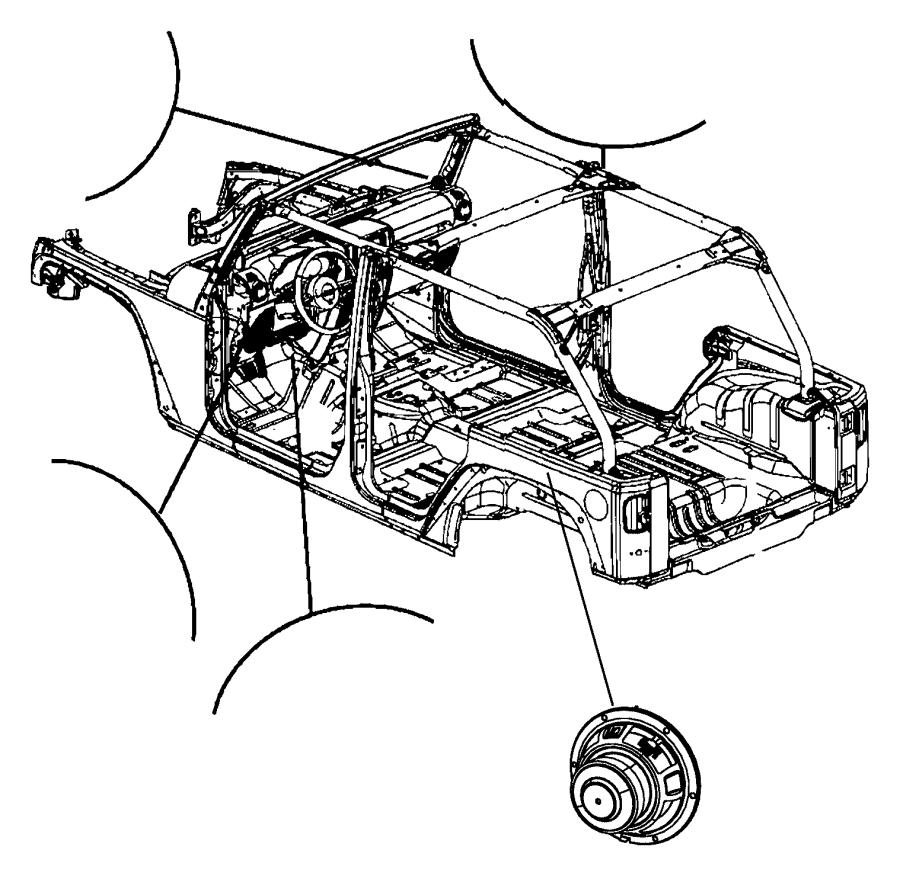 Jeep Wrangler Speaker. Sub woofer. [6 infinity speakers w