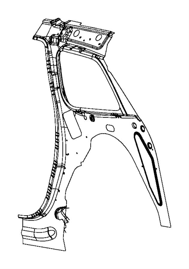 Jeep Grand Cherokee Panel. Body side aperture inner. Rear