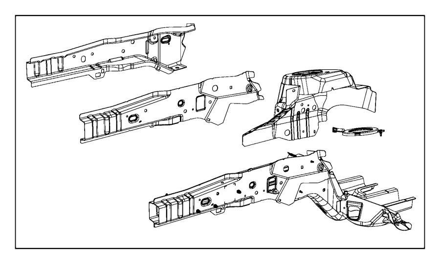 Chrysler 200 Baffle. Shock tower. Left. Front, fenders