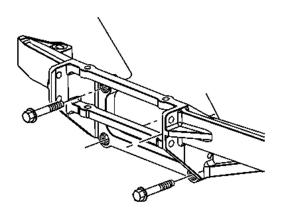 Ram 1500 Bracket. Winch. [front electric winch