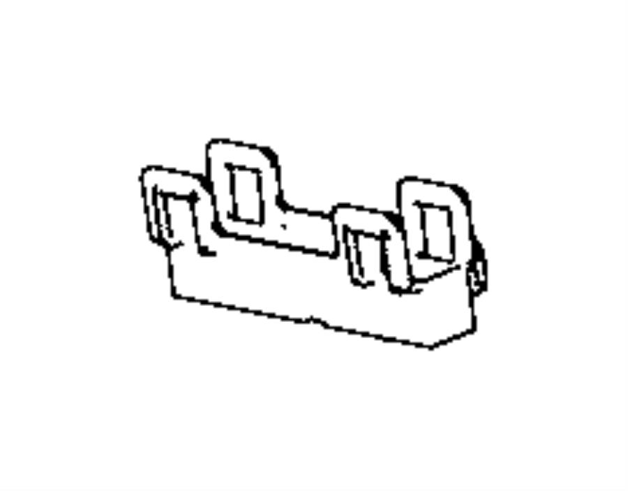 Ram 2500 Bracket. Wire harness. Right, right rear door