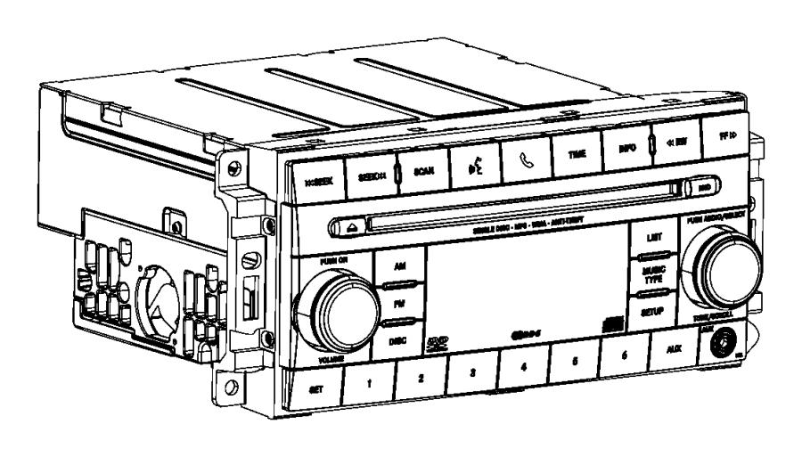 Jeep Compass Radio. Multi media. Export. [instrument panel