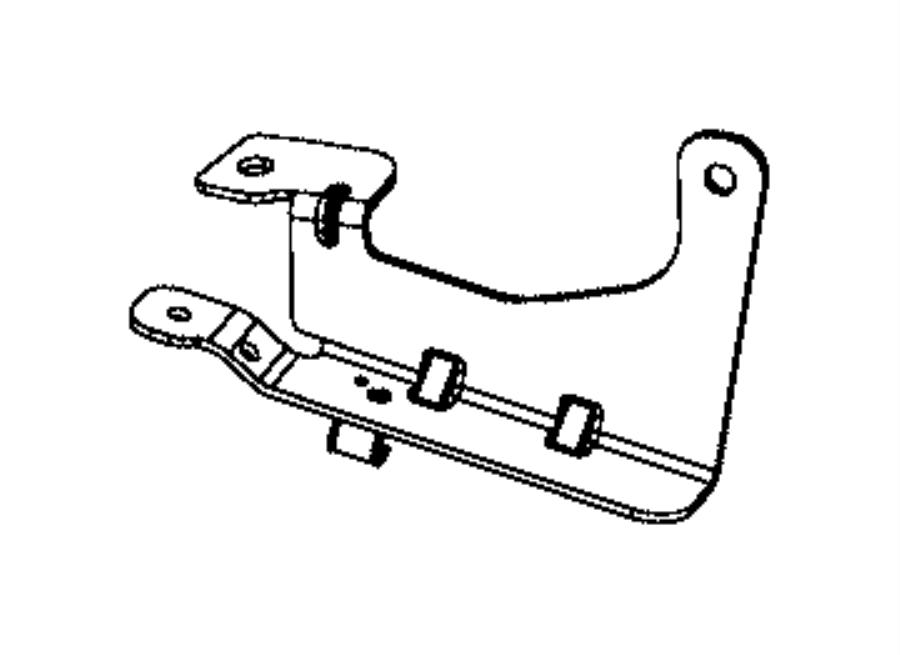 Ram 1500 Bracket. Fuel bundle. [26 gallon fuel tank