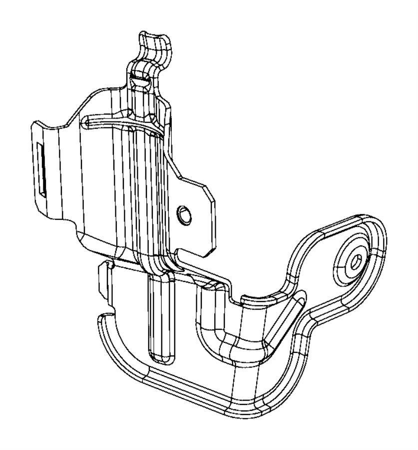 Jeep Renegade Bracket. Fuel filter. Export. [alternate