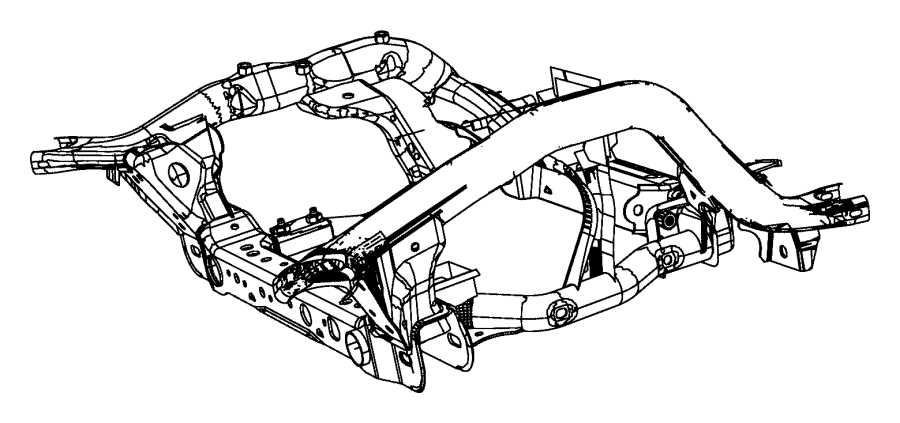 Jeep Grand Cherokee Cradle. Front suspension. Right hand