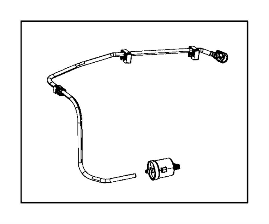 Jeep Cherokee Filter. Fuel vapor vent. Diesel. Tube, tank