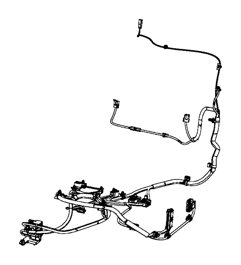 Dodge Journey Wiring. Seat. Passenger side. Seat back