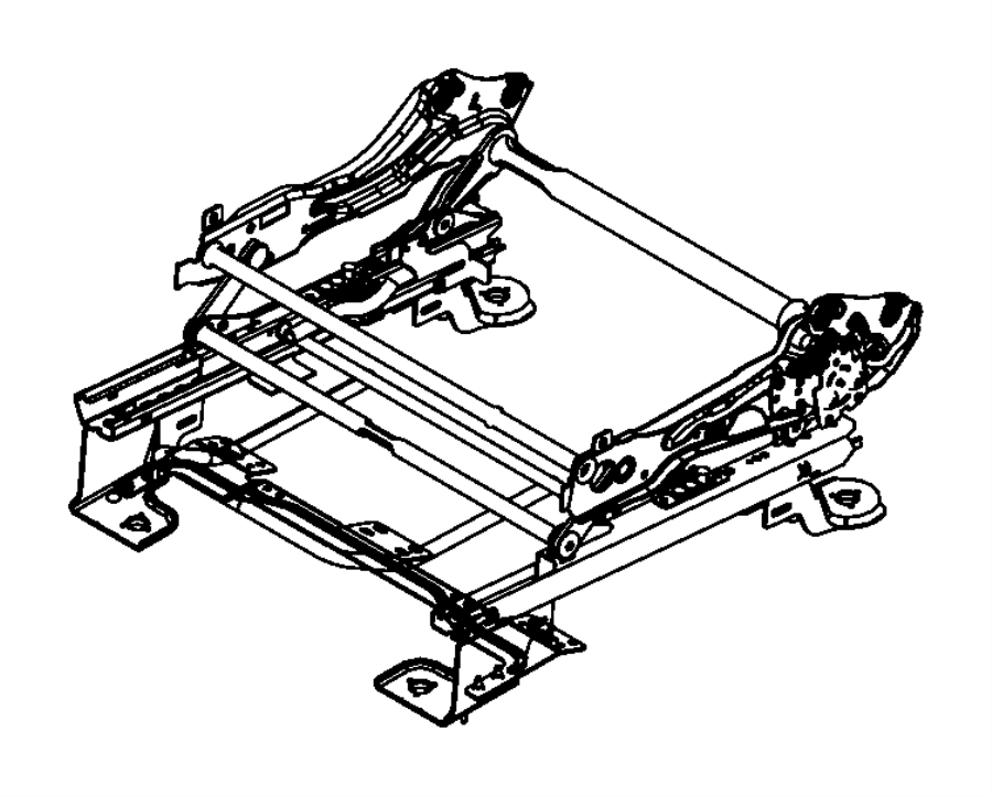 Dodge Journey Adjuster. Manual seat, seat. Export, left