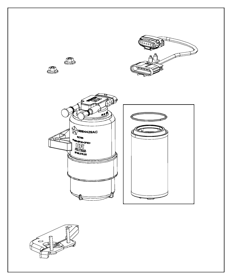 Ram 1500 Jumper. Fuel supply. Separator, filter, water