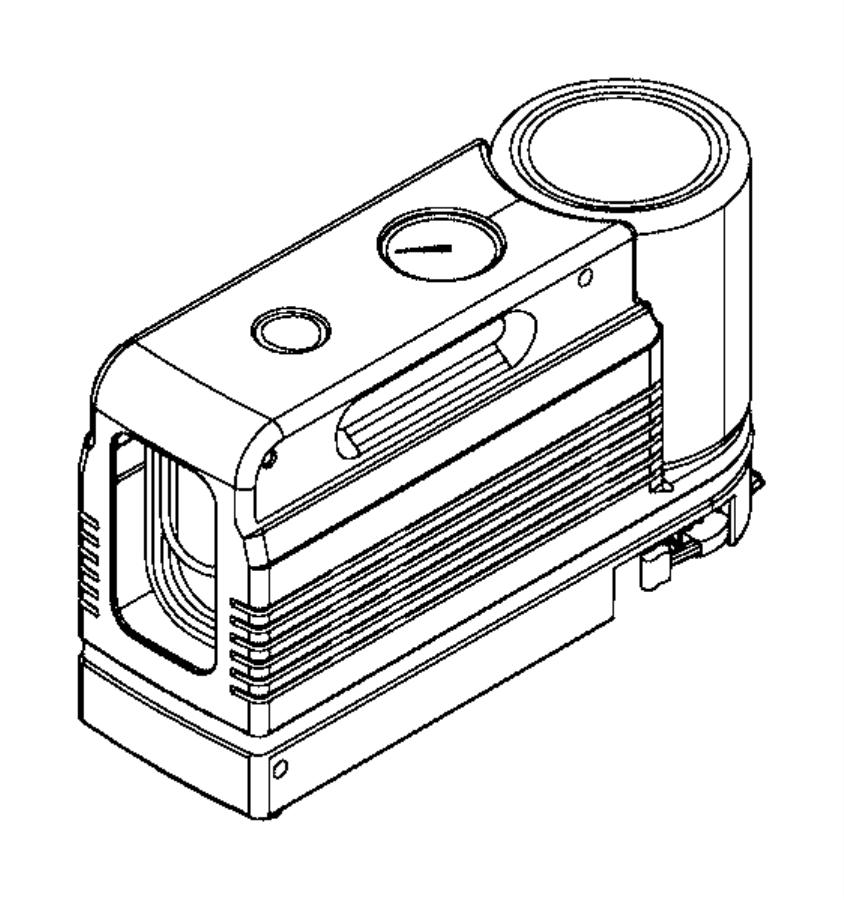 Jeep Renegade Compressor. Tire. Canada. [delete spare tire