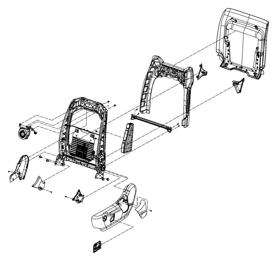 Jeep Grand Cherokee Bracket. Seat, shields, recliners