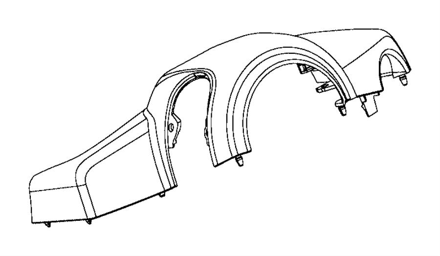 Ram ProMaster City Shroud. Steering column. Upper. Trim