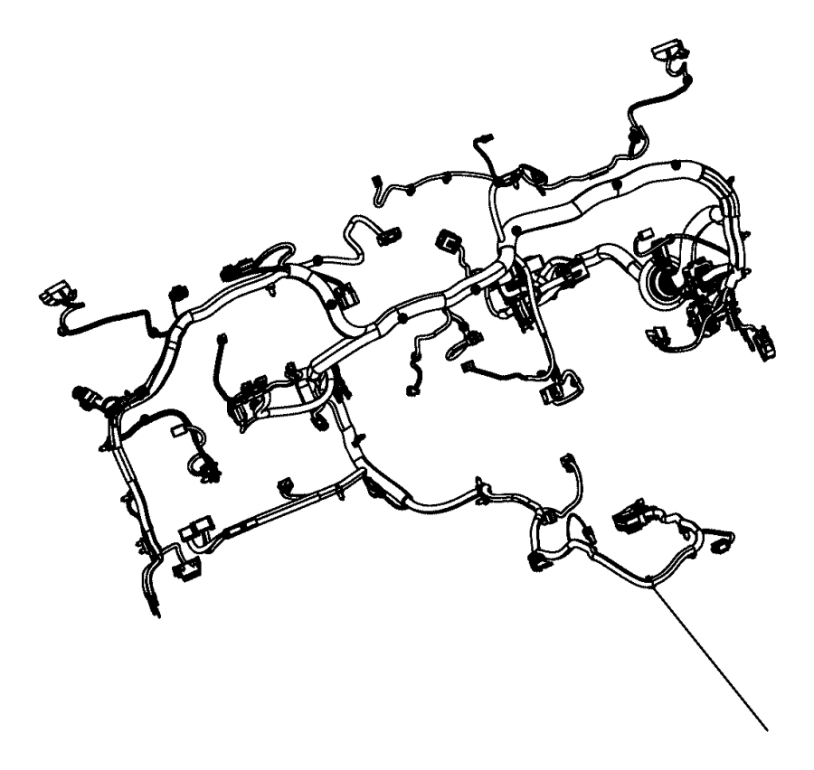 Jeep Wrangler Wiring. Instrument panel. [instrument panel