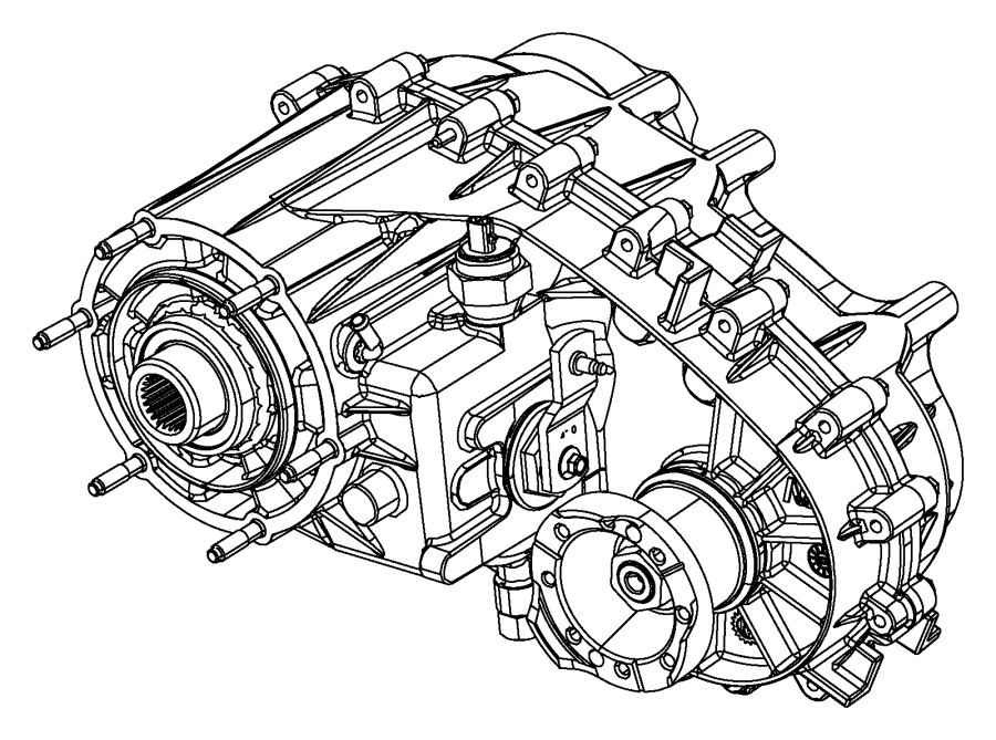 Jeep Wrangler Transfer case. Np241. Shift, fly, assembly