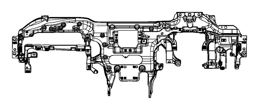 Jeep Grand Cherokee Reinforcement. Instrument panel