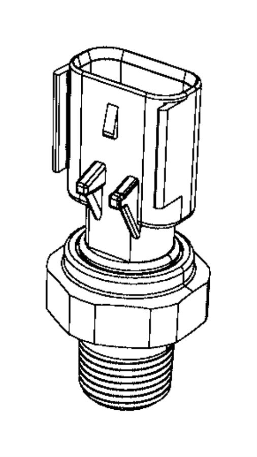 Jeep Compass Sensor. Oil pressure. Oil pressure switch to
