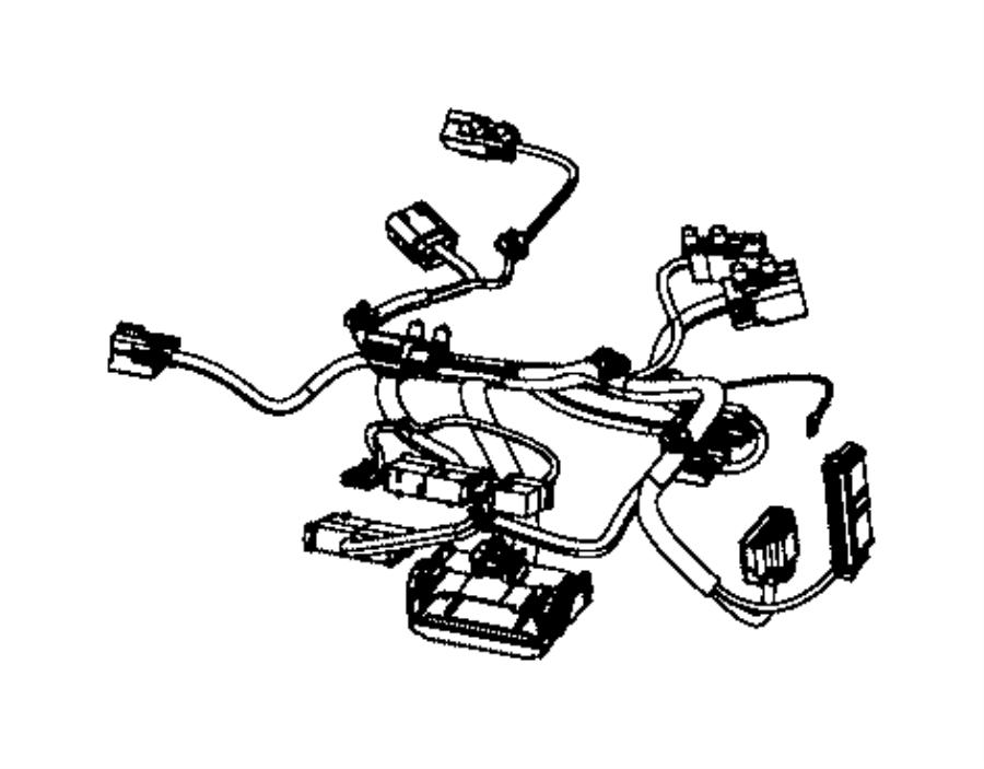 Jeep Grand Cherokee Wiring. Seat cushion. Passenger. Trim