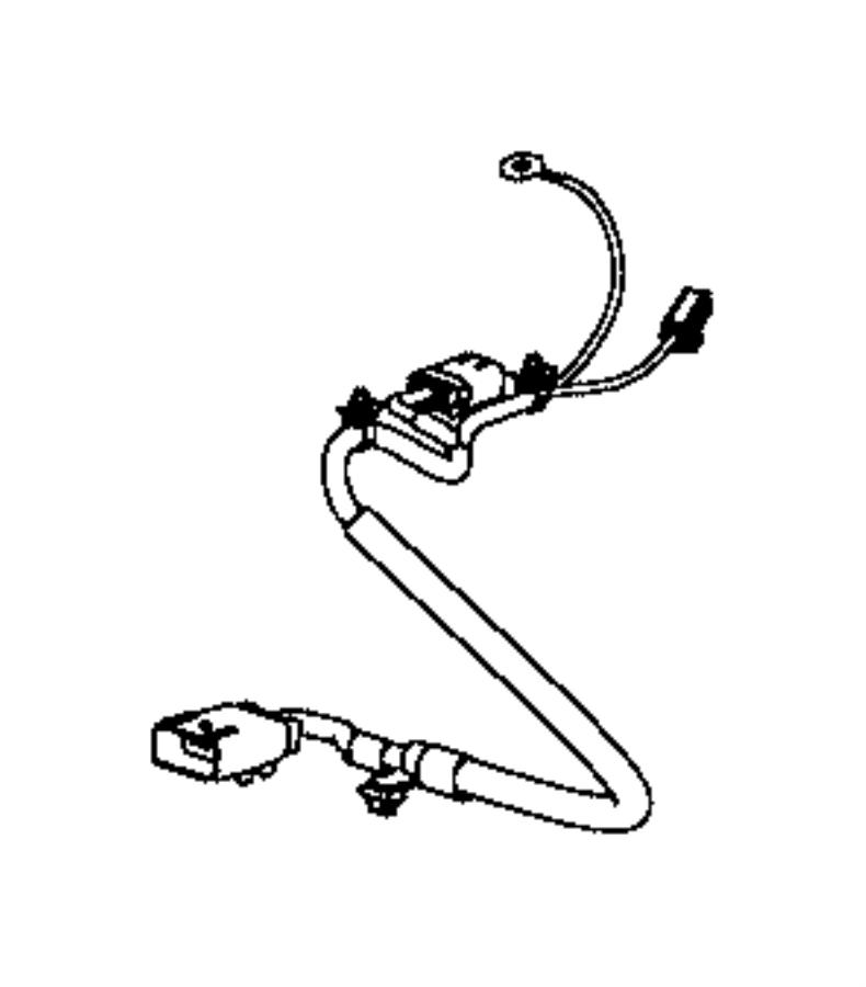 Dodge Caliber Wiring. Power seat, seat cushion. Passenger