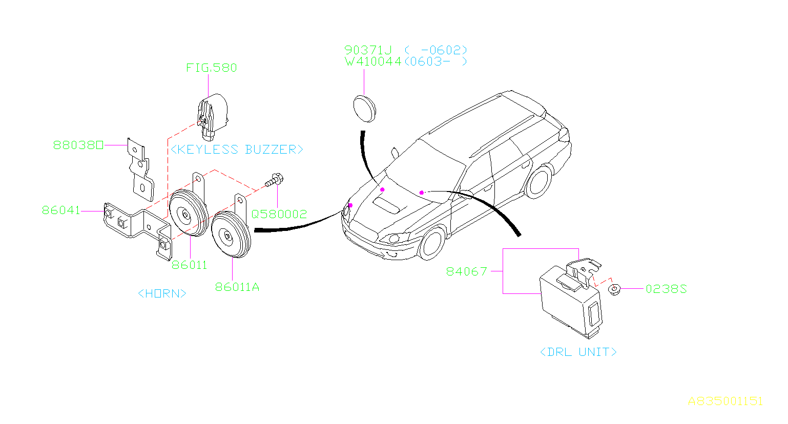 Subaru Legacy Unit assembly-daytime running. Electrical