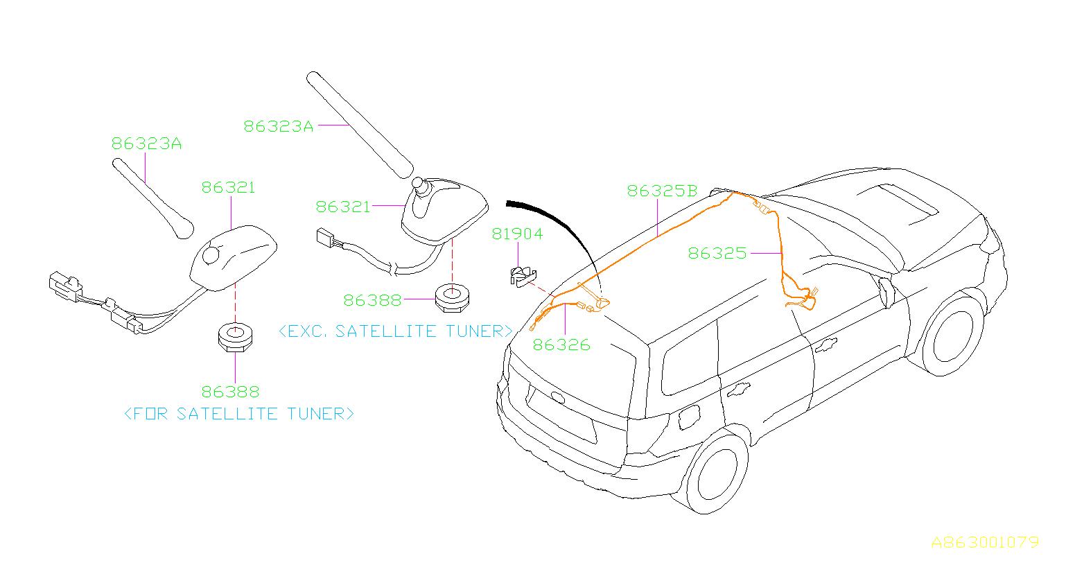 Subaru Forester Cord assembly-antenna feeder b. Nippon