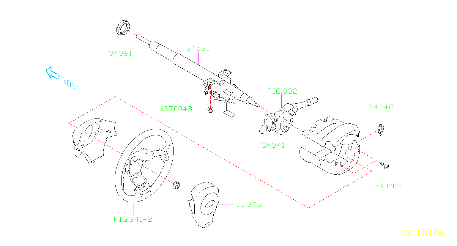 Subaru Forester Bushing-horn. Steering, column